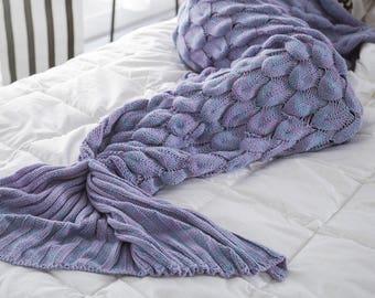 Handmade Mermaid Blanket Mermaid Tail Crochet blanket