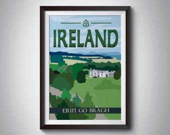 Ireland | Travel Poster | Instant Download