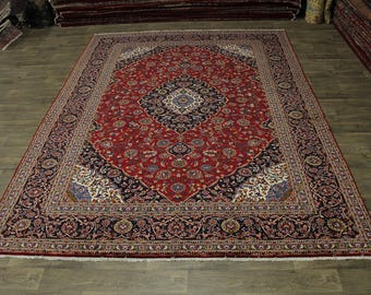 Fanciful Handmade S Antique Red Kashan Persian Rug Oriental Area Carpet 10X13