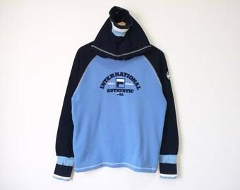 On Sale! Fila Hoodie Sweatshirt Multicolor Fila Intimo Fila Biella Italia Fila Big Logo Spell Out Streetwear Hip Hop Medium Size
