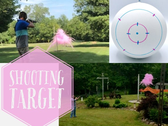 "4"" SHOOTING TARGETS Gender Reveal Balls Pack (Custom Color Combinations)"