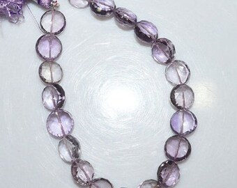 """50% OFF Natural Pink Amethyst Faceted Round Shape Beads - Pink Amethyst Round Shape Briolette , 9.50 - 10.50 mm , 8"""" , BL1462"""