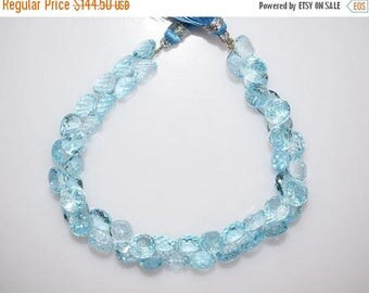 """50% OFF Sky Blue Topaz Faceted Onion Shape Beads-Sky Blue Topaz Onion Shape Briolette, 5x7 - 6.5x7.5 mm, 7"""" , BL767"""