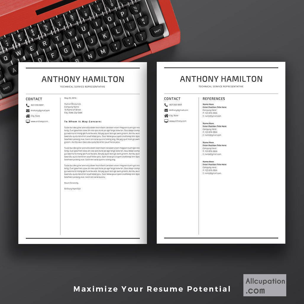 Professional Resume Template | 5 Pages Resume | Cover Letter | CV Template  Word | Modern