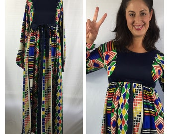 VTG 70s Colorful Maxi