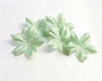Silk satin flower lime green for jewelry, scrapbooking, card making, sewing individually
