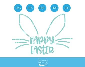 Happy Easter SVG, Easter SVG, Bunny SVG, Rabbit Svg, Easter Bunny Svg, Svg Files for Cricut, Svg, Svg Files, Easter Clipart, Cricut Svg