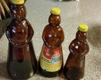 Collectable, Mrs Butterworth syrup bottles.  Set of 3.