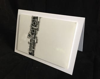 Greeting card clarinet Abstract-Photo card