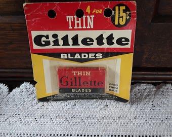 Vintage 1938 Thin Gillette Razor Blades