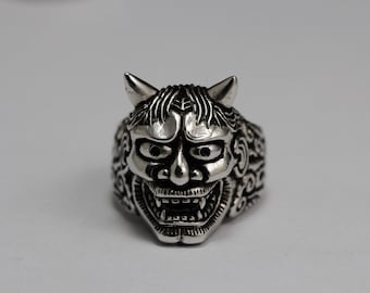 Devil men ring,men ring,silver ring,925 Sterling Silver