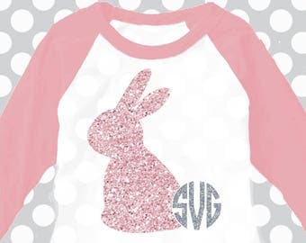 Easter svg, Bunny monogram svg, Bunny ears svg, Easter Bunny svg, Easter dxf, SVG, DXF, EPS, rabbit, cut file, rabbit ears, Monogram svg