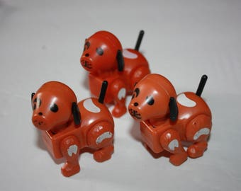 Vintage Fisher Price Little People Brown Dog Lot
