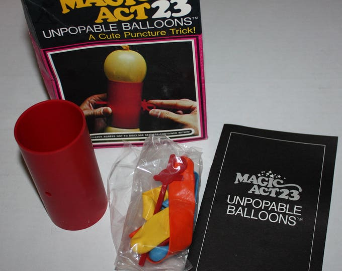 Magic Act 23 Unpopable Balloons Reiss Games 1975 Vintage RARE