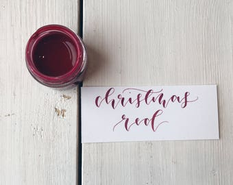 Christmas Red Calligraphy Ink.