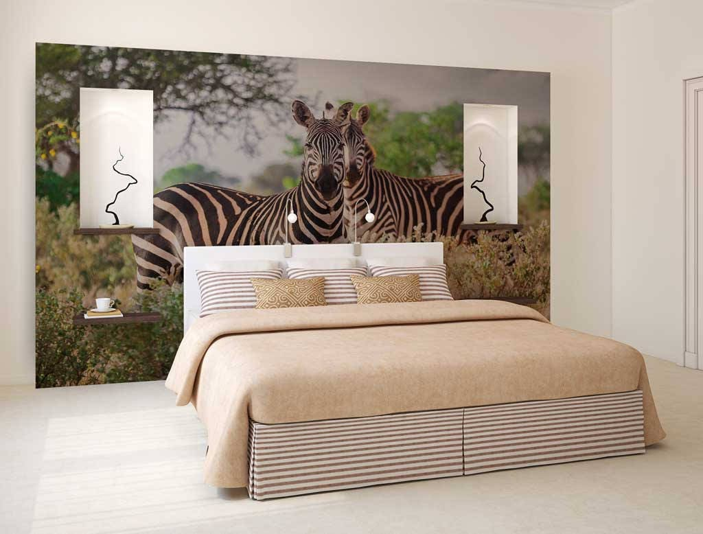 Wall Mural Jungle Zebras Wall Mural Wallpaper Zebra Jungle