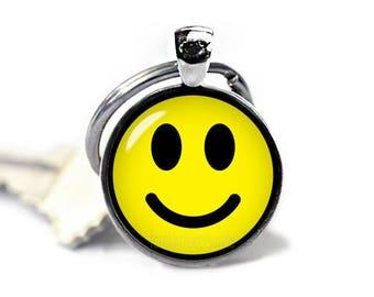 Smiley Keychain Emoji Smiley Key Ring Emoji KeyFob Kawaii Keychain EMoji Jewelry