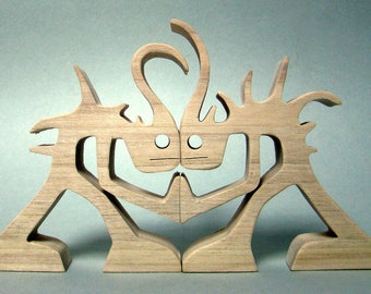 "Carving wood fretwork ""push"""