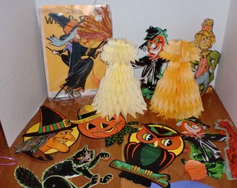 vintage halloween decorations beistle 1960s 1970s - Beistle Halloween Decorations
