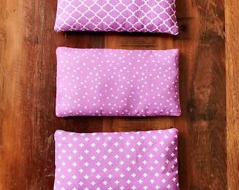 Set of 3 Purple Microwavable Heat Packs