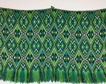 Vintage/ Green/ Handmade/ Bulgarian Embroidery/ Shevitsa Wall Carpet Decoration