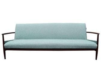 Vintage Danish Mid Century Modern Teak Sofa in the Style of Grete Jalk