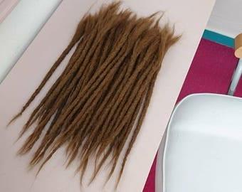 1 Short  Human hair Dreadlock Extension ( 10-12 inches)