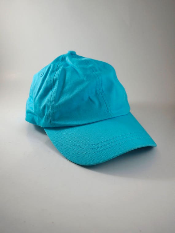 Plain Baby Blue Colored Dad Hat Classic Blue Baseball Cap