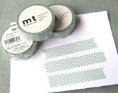 Blue Green Fancy Check Pattern MT Japanese Washi Tape 15mm Width 10 Meters (1 Roll)
