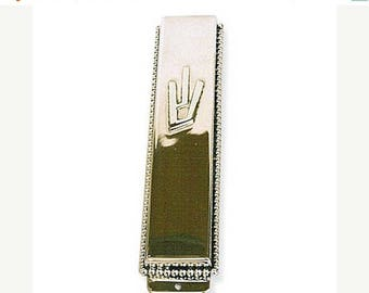 Sterling Silver Mezuzah Case With Pearls Ornament .Hand made in Israel