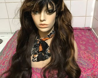 """24/26"""" Full Lace Wig with short fringe stunning blonde brown mix, FINAL REDUCTIONS"""