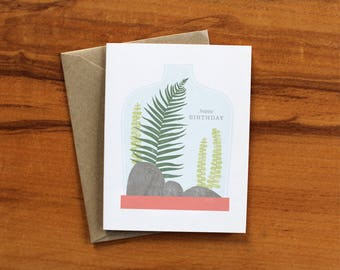 Terrarium Happy Birthday Card