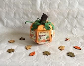 Pumpkin, Autumn, Halloween, Thanksgiving, Harvest Festival, paper, Gift wrapping, box, decoration