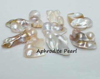 pearl attached  to shell, jewelry DIY