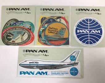 PAN AM x Traveler's Factory Sticker Set Traveler's Notebook Midori Designphil Rare Made in Japan New