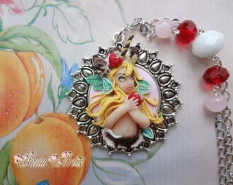 Strawberry Ice Cream Girl necklace