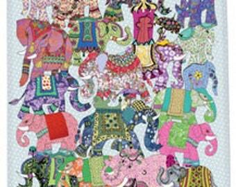 Elephant kitchen towel, printed elephants tea towel, printed cotton dish towel boho chic - bohemian elephant tea towel. Great Easter gift