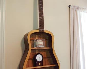 Hand-made guitar shelf