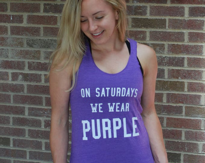 Featured listing image: On Saturdays We Wear Purple - GAMEDAY TANK