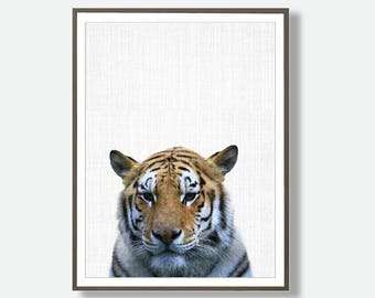 Tiger Print, Tiger Wall Art, Tiger Artwork, Tiger Poster, Safari Poster Download, Printable Tiger, Tiger, Large Printable Poster, Modern Art