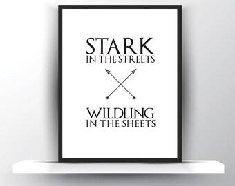 Funny GoT Art Print - Game of Thrones Gift - Thrones for Her - House Stark Thrones Art - GoT Birthday - Game of Thrones Art - Jon Snow