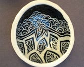 Set of 4 Zentange Ring Bowls