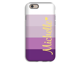 Monogram iPhone 7 case/7 Plus case, purple ombre' stripes iPhone SE case, iPhone 6s Plus case, iPhone 6 Plus case/6 case, iPhone 6s case