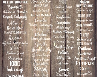 Name Decal Sticker Fonts / Name Decal / Custom Name / Name Sticker / Personalized Decal / Yeti Decal / Name Tumbler / Word Decal