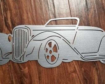 Roadster Metal Art