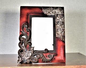 4x6 Frame Photo Frame Ornate Burgundy Gold