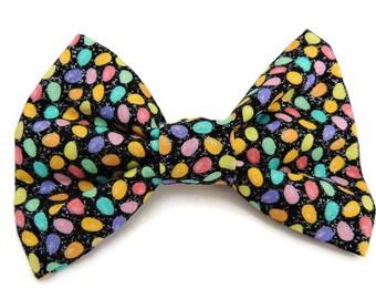 Glittery Easter Egg Slip-On Collar Bow Tie