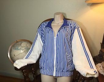 80s stripped windbreaker 90s clothing vintage clothing 80s sailing jacket 80s windbreaker 90s windbreaker vintage activewear 90s fresh princ