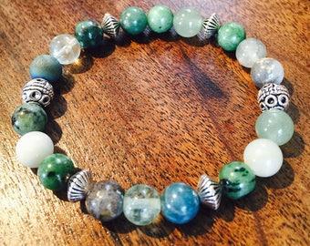Earth Energy Mixed Healing Gemstone Bracelet