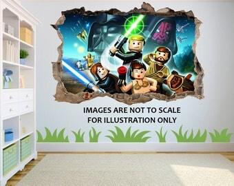 Lego Star Wars Clone Wars 3D Effect Graphic Wall Vinyl Sticker Decal Part 35